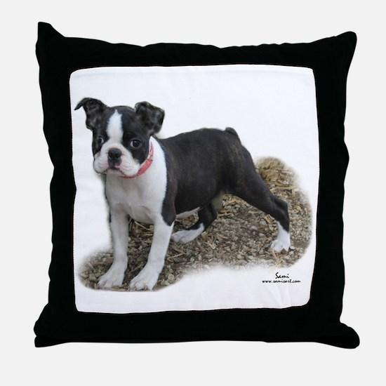 Boston Terrier Pup 1 Throw Pillow