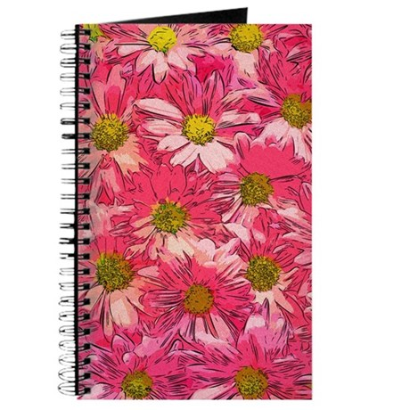 Painted Pink Daisies Journal