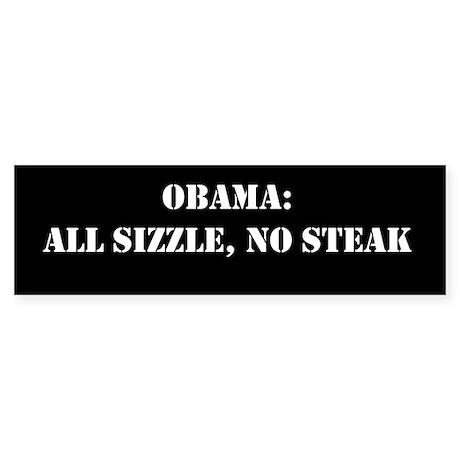 All Sizzle, No Steak Sticker (Bumper 10)