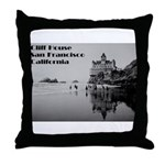 SF Cliff House Throw Pillow