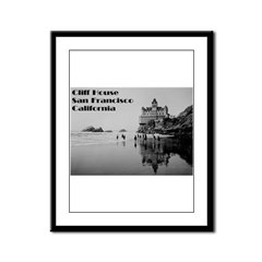 SF Cliff House Framed Panel Print