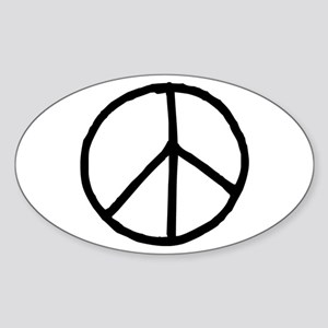 Peace Symbol Sticker (Oval)