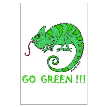 Go Green Large Poster