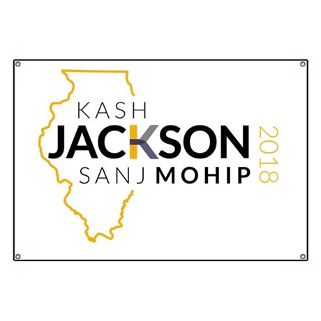 Kash Jackson and Sanj Mohip for Illinois Banner