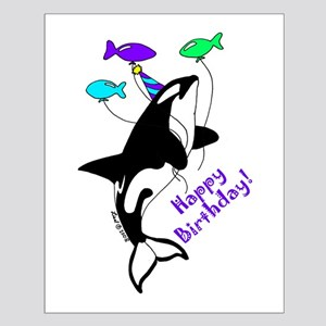 Orca Birthday Small Poster