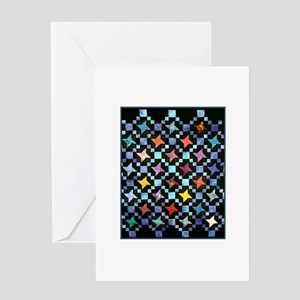 Fabric Crafts - Colorful Hand Greeting Card