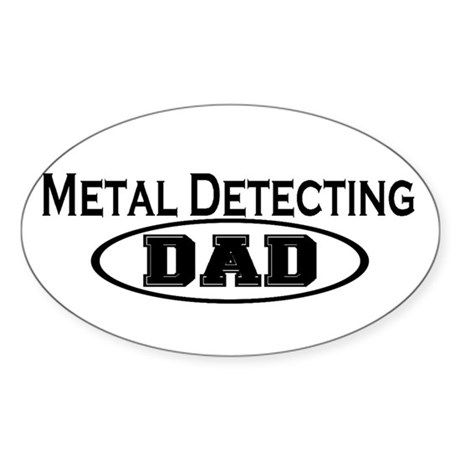 Metal Detecting Oval Sticker (10 pk)