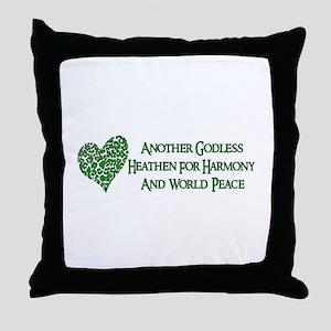 Godless Heathen For Peace Throw Pillow