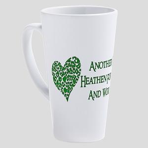 Godless Heathen For Peace 17 oz Latte Mug