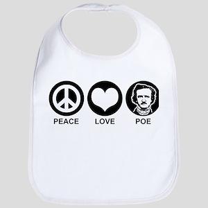 Peace Love Poe Bib