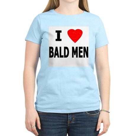 I Love Bald Men Women's Pink T-Shirt
