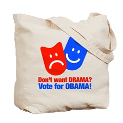 Vote Obama: No Drama! Tote Bag