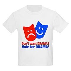 Vote Obama: No Drama! Kids Light T-Shirt