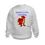 Daddy's Little Hatchling Kids Sweatshirt