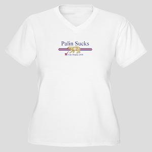 Palin Sucks Women's Plus Size V-Neck T-Shirt