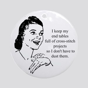 Cross-Stitch - Don't have to Ornament (Round)