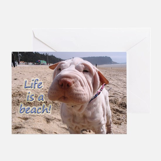 Life Beach Greeting Card