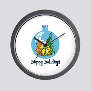 Stocking Knitter - Happy Holi Wall Clock