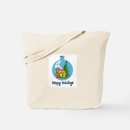 Stocking Knitter - Happy Holi Tote Bag