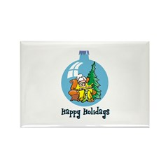Stocking Knitter - Happy Holi Rectangle Magnet (10