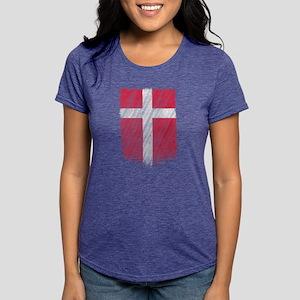 Danish Flag Shirt Denmark Flag T shirt Wav T-Shirt