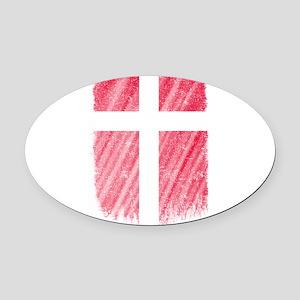 Danish Flag Shirt Denmark Flag T s Oval Car Magnet