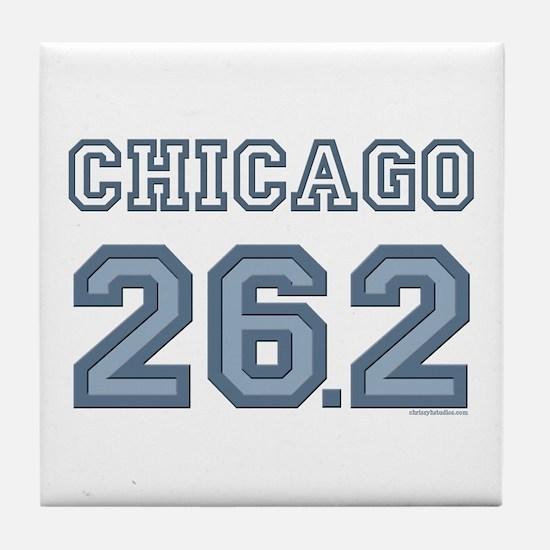 Chicago 26.2 Marathoner Tile Coaster