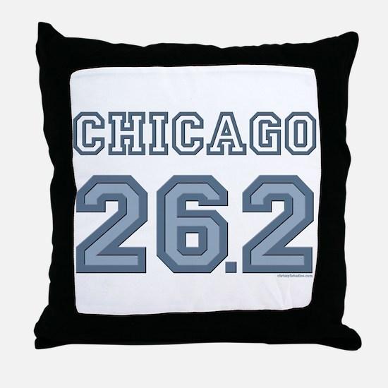 Chicago 26.2 Marathoner Throw Pillow