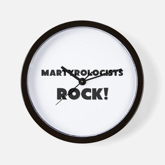 Martyrologists ROCK Wall Clock