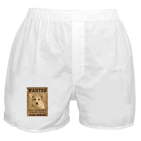 """Wanted"" Pembroke Welsh Corgi Boxer Shorts"