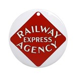 Railway Express Color Logo Keepsake (Round)