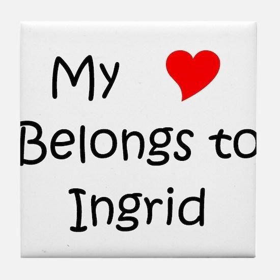 Funny Ingrid Tile Coaster
