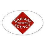Railway Express Color Logo Oval Sticker
