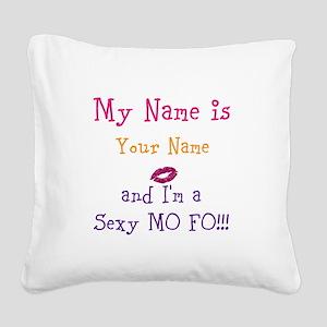 Customize Name Design Sexy Lips Square Canvas Pill