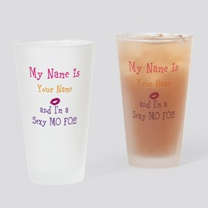 Customize Name Design Sexy Lips Drinking Glass