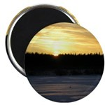 "Winter Sunrise 0165 2.25"" Magnet (10 pack)"