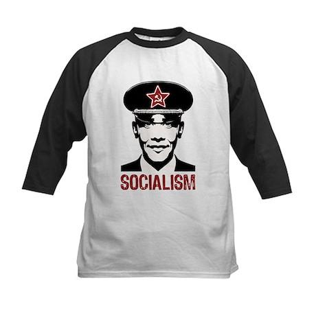 Obama Socialism Kids Baseball Jersey