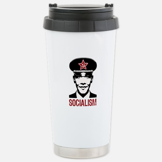 Obama Socialism Stainless Steel Travel Mug