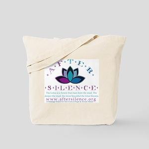 After Silence Lotus Design Tote Bag