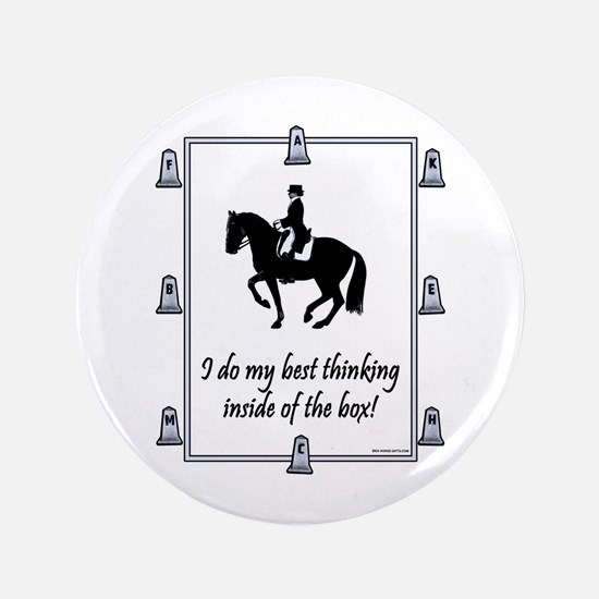 "Dressage Box Thinking 3.5"" Button"