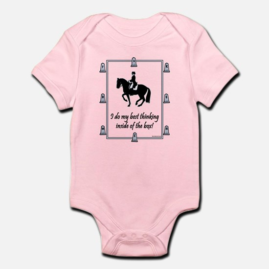 Dressage Box Thinking Infant Bodysuit