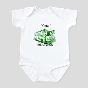 AFTM Ollie The Trolley Side G Infant Bodysuit