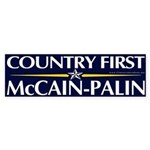Country First, McCain-Palin Bumper Sticker