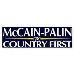 McCain-Palin, Country First Bumper Sticker