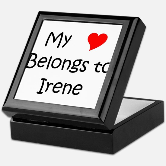 Cute My heart belongs efrain Keepsake Box