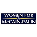 Women for McCain-Palin Bumper Sticker
