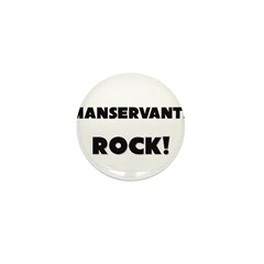 Manservants ROCK Mini Button (10 pack)