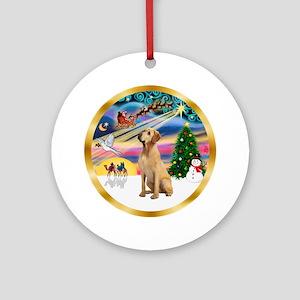 XmasMagic/Yellow Labrador Ornament (Round)