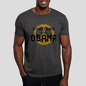 Student Nurse for Obama Dark T-Shirt