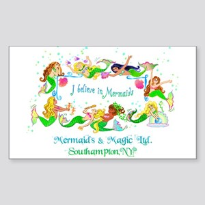 Southampton believes in Mermaids Sticker (Rectangl